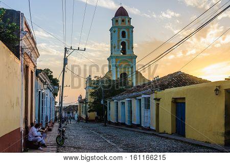 TRINIDAD, CUBA - MARCH 23, 2016: San Francisco Convent in the UNESCO World Heritage old town of Trinidad Cuba