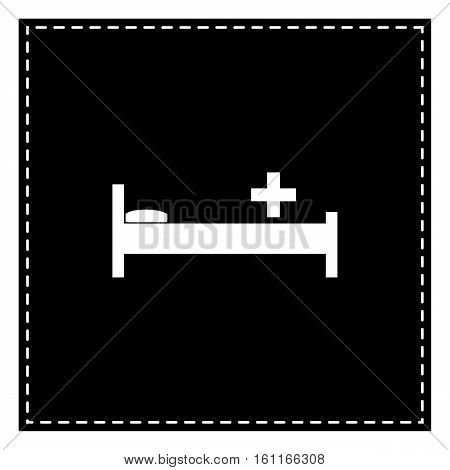 Hospital Sign Illustration. Black Patch On White Background. Iso