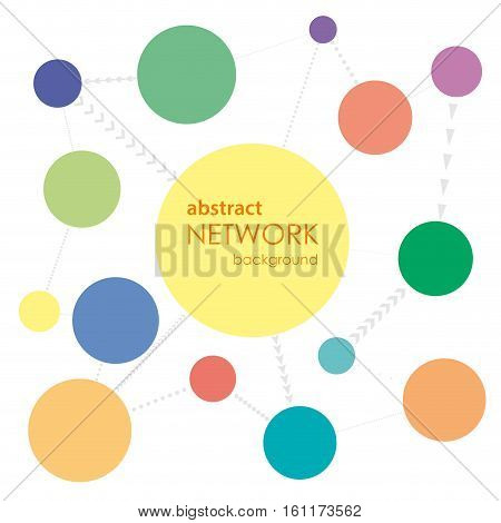 Vector Abstract Network Background, isolated on white