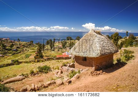 Isla Taquile In Peru