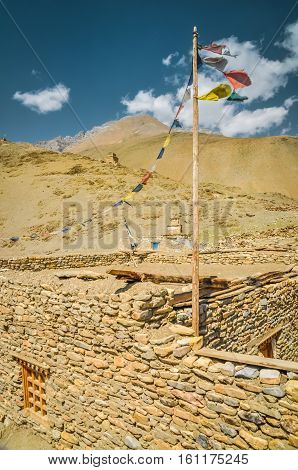 Stone Wall In Dolpo