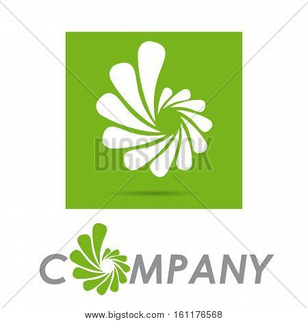 Vector sign Green Vortex, isolated on green