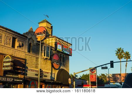 LOS ANGELES CALIFORNIA - OCTOBER 28 2016: Laugh Factory in Sunset strip Los Angeles