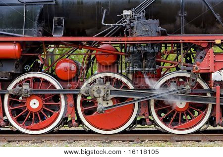 steam locomotive's detail, Veendam - Stadskanaal, Netherlands poster