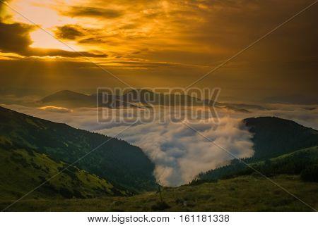 Fog Above Village