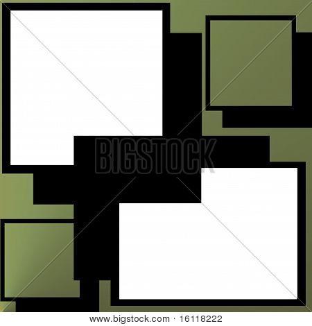 Multi colored picture frame