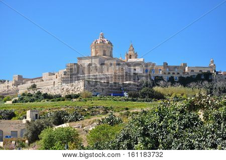 A view of the Citadel Mdina in Malta