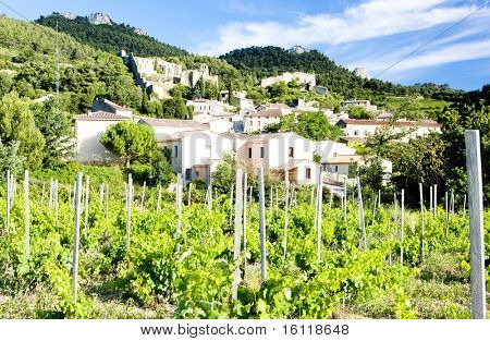 Gigondas with vineyard, Provence, France poster