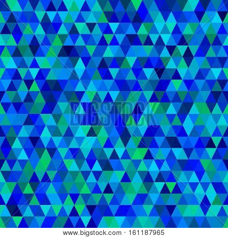 Seamless geometric pattern with rhombuses and triangles in lilac - blue tones