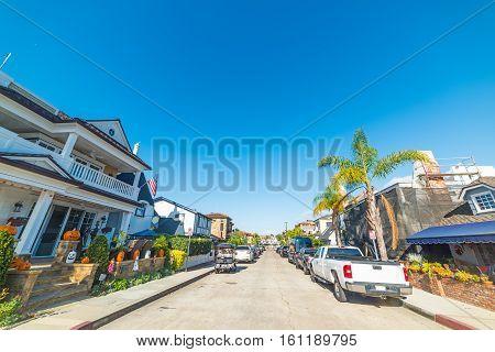 a street in Balboa island in California