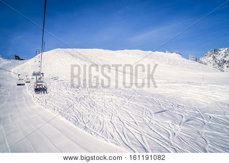 Cableway In Courmayeur