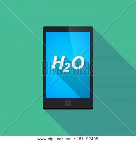 Long Shadow Smart Phone With    The Text H2O