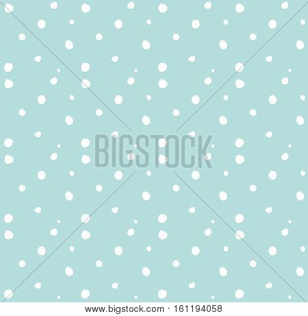 Snow seamless pattern. Digital illustration for Winter Holiday greeting cards background. Retro syle