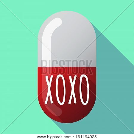 Long Shadow Medical Pill With    The Text Xoxo