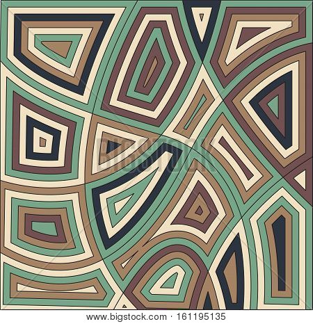 African motif background design. Vector illustration. Abstract decorative green brown color backdrop.