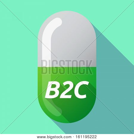 Long Shadow Medical Pill With    The Text B2C