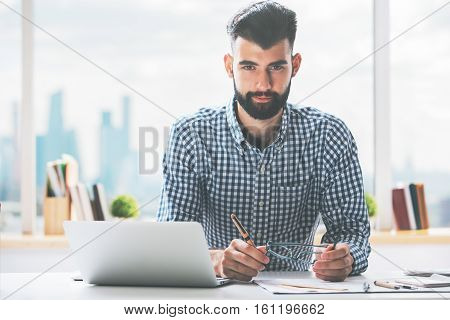 Portrait Of Man At Workplace
