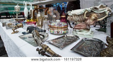 Assorted items at a flea market in san telmo