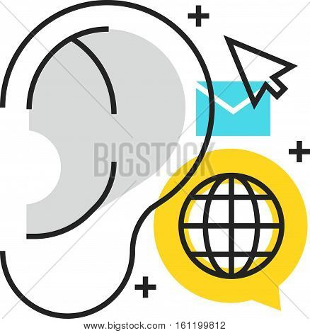 Color Box Icon, Buzz Marketing Concept Illustration, Icon