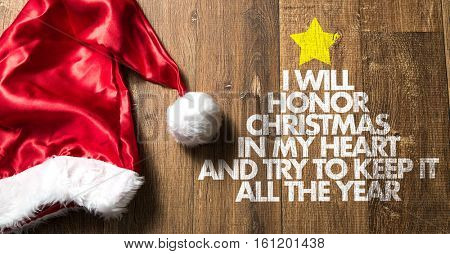 I Will Honor Christmas in my Heart and Try to Keep All the Year