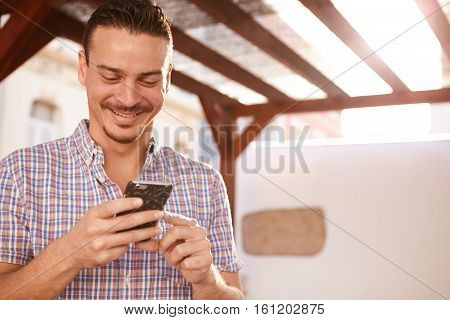 Cute Dark Haired Man With A Grin