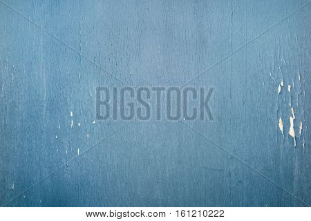 Blue Rustic Wall Aged In Metal For Background