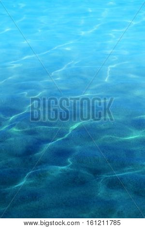 Wonderful bright clear water in the sea