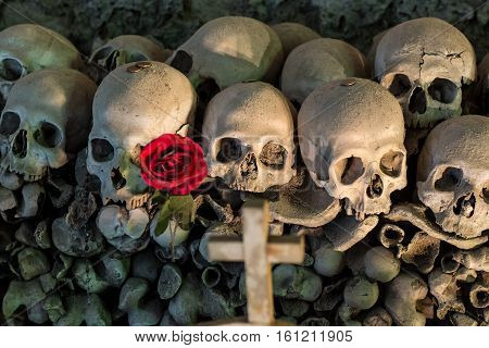 Fontanel Cemetery In Naples, Italy