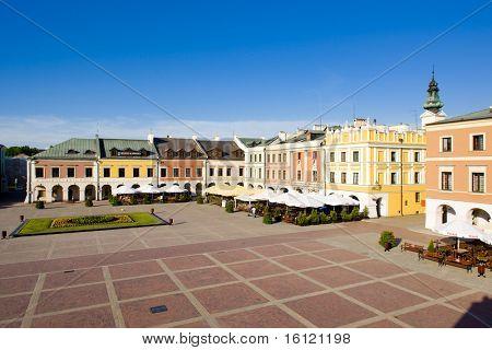 Main Square (Rynek Wielki), Zamosc, Poland poster