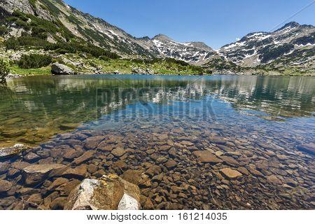 Amazing Panorama of Demirkapiyski chukar and Dzhano peaks, Popovo lake, Pirin Mountain, Bulgaria