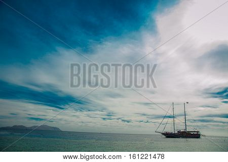 ship boat in red sea egypt background tropical view yacht