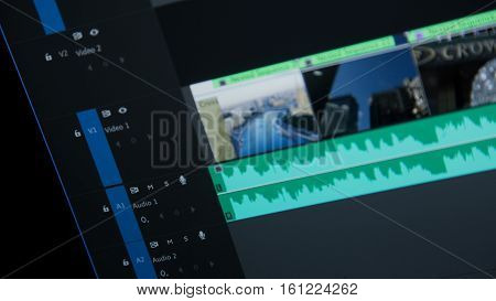 Editing time line blue in adobe premiere