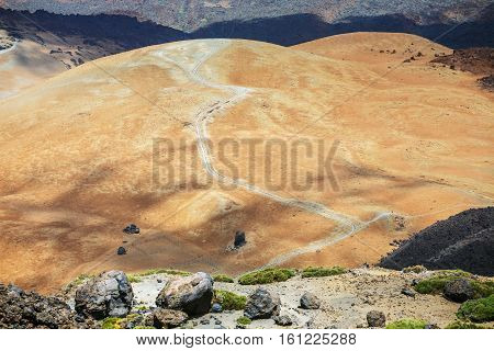 Montana Blanca In Teide National Park, Tenerife, Canary Islands, Spain