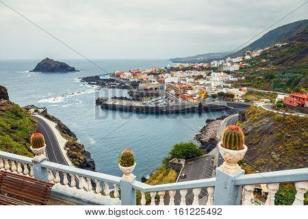 Aerial View Of Garachico In Tenerife, Canary Islands, Spain