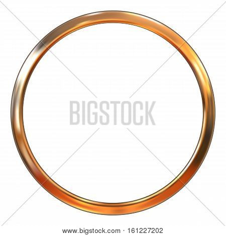 Frame gold ring vector illustration. Gradient mesh