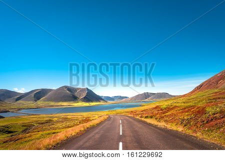 Icelandic colorful and wild landscape at summer time Iceland