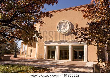 New Mexico State Capital Building Fall Autumn Color Santa Fe