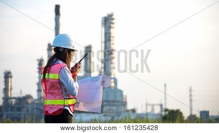 The women engineer at power plant Thailand