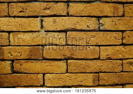 The background image of an old brick wall