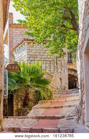Picturesque Medieval Eze Village In South Of France