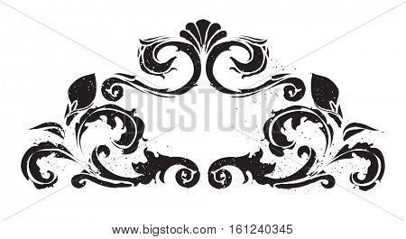 Vintage handcrafted ornamental frame