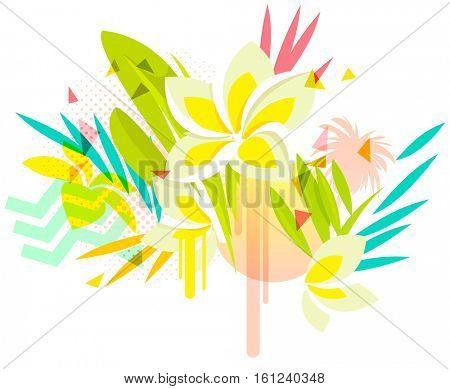 Tropical plumeria flowers