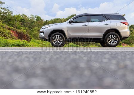 Phuket, Thailand - November 3 : Private Car, Toyota New Fortuner Parking On The Road In Phuket On No