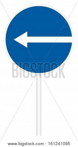 Prescriptive Traffic Sign - Direct Left
