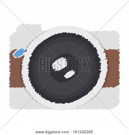 photographic camera icon image paint style vector illustration design