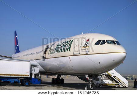 Nigerian Christian Pilgrims Aircraft At Ben-gurion Airport. Israel