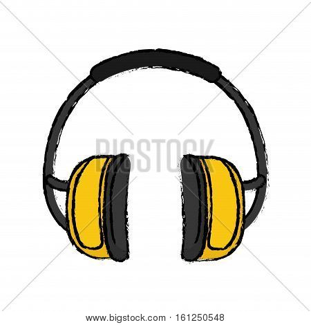 Isolated Construction earmuffs icon vector illustration graphic design