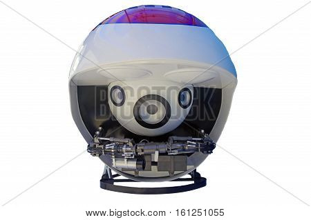 Underwater robots folded isolated on white background