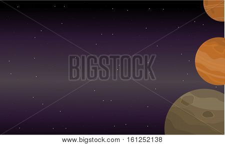 Planet outer space of landscape vector collection stock