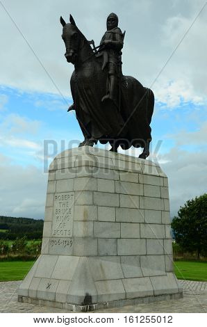 A view of the monument statue at Bannockburn